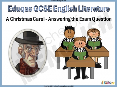 A Christmas Carol - Eduqas GCSE English Literature Exam Question