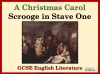 A Christmas Carol - Scrooge in Stave One Teaching Resources (slide 1/28)