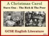 A Christmas Carol - Stave One - The Rich and the Poor Teaching Resources (slide 1/13)