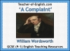 A Complaint by William Wordsworth (slide 1/39)
