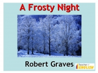 A Frosty Night (Graves) Presentation