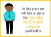A Guide to the Cambridge IGCSE English Qualification (slide 2/19)
