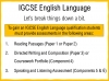 A Guide to the Cambridge IGCSE English Qualification (slide 5/19)