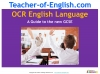 A Guide to the OCR 9-1 GCSE English Language qualification (slide 1/16)