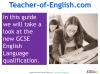 A Guide to the OCR 9-1 GCSE English Language qualification (slide 3/16)