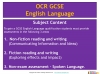 A Guide to the OCR 9-1 GCSE English Language qualification (slide 6/16)