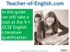A Guide to the OCR GCSE 9-1 English Literature qualification (slide 3/12)