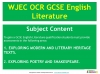 A Guide to the OCR GCSE 9-1 English Literature qualification (slide 6/12)