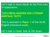 A Guide to the OCR GCSE 9-1 English Literature qualification (slide 7/12)