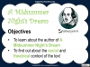 A Midsummer Night's Dream - Year 6 Teaching Resources (slide 3/131)