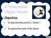 A Midsummer Night's Dream - Year 6 Teaching Resources (slide 40/131)