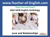 AQA GCSE English Anthology - Love and Relationships Poetry (slide 1/410)