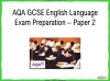 AQA GCSE English Language Exam Preparation - Paper 2 Teaching Resources (slide 1/202)