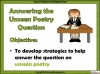 AQA GCSE English Literature Unseen Poetry Teaching Resources (slide 2/60)