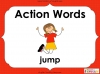 Action Words - Verbs (slide 1/34)