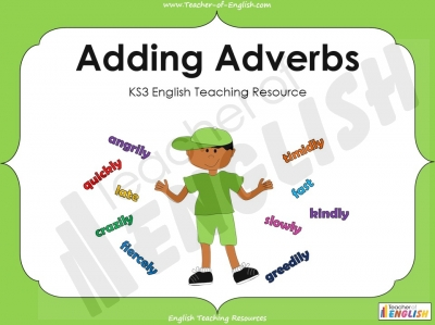 Adding Adverbs - KS3