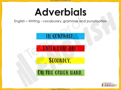 Adverbials Teaching Resources