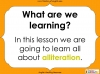 An Introduction to Alliteration - KS1 Teaching Resources (slide 2/13)