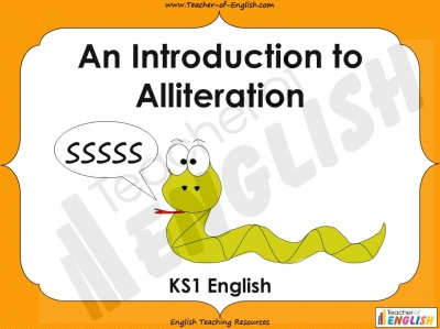 An Introduction to Alliteration - KS1 Teaching Resources