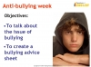 Anti-bullying Advice Leaflet Teaching Resources (slide 2/17)