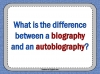 Autobiography - KS2 Teaching Resources (slide 3/93)