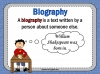 Autobiography - KS2 Teaching Resources (slide 4/93)