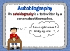 Autobiography - KS2 Teaching Resources (slide 5/93)