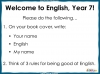 Back to School Letter - Year 7 Teaching Resources (slide 3/20)