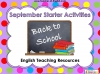 Back to School Starters Teaching Resources (slide 1/17)