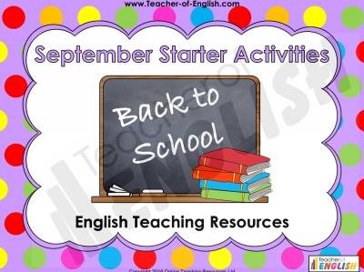Back to School Starters
