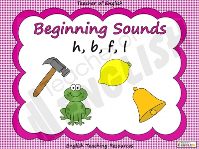 Beginning Sounds -  h, b, f, l Teaching Resources