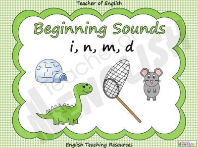 Beginning Sounds - i, n, m, d Teaching Resources