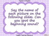 Beginning Sounds - s, a, t, p (slide 2/15)