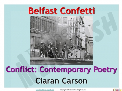 Belfast Confetti Teaching Resources