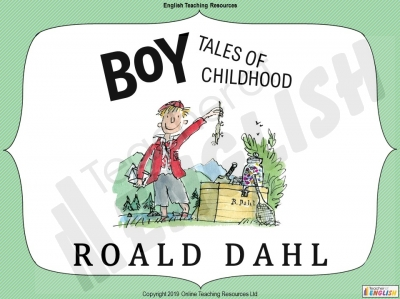 Boy Roald Dahl - Free Resource