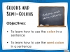 Colons and Semi-Colons - KS3 Teaching Resources (slide 2/43)