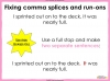 Comma Splicing - KS2 Teaching Resources (slide 13/18)