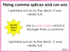 Comma Splicing - KS2 Teaching Resources (slide 15/18)