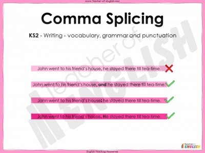 Comma Splicing - KS2 Teaching Resources