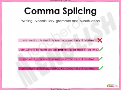 Comma Splicing - KS3