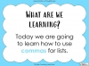 Commas for Lists Teaching Resources (slide 2/20)