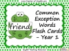 Common Exception Words Flash Cards - Year 1 (slide 1/25)