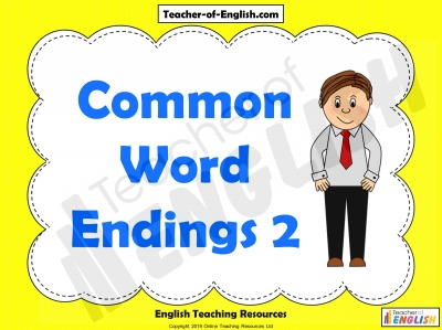 Common Word Endings 2