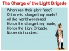 Comparing Poems - Dulce et Decorum Est and The Charge of the Light Brigade (slide 14/103)