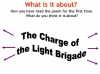 Comparing Poems - Dulce et Decorum Est and The Charge of the Light Brigade (slide 16/103)
