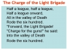 Comparing Poems - Dulce et Decorum Est and The Charge of the Light Brigade (slide 9/103)
