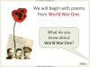Conflict Poetry - Year 8 & 9 Teaching Resources (slide 7/134)