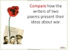 Conflict Poetry - Year 8 & 9 Teaching Resources (slide 92/134)