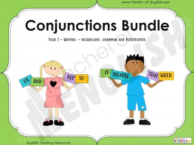 Conjunctions Bundle - Year 2 Teaching Resources