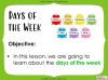 Days of the Week - Year 1 Teaching Resources (slide 2/60)